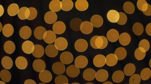 Golden Bokeh Lights Blinking Background Archivo