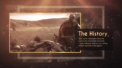 The History After Effects Template