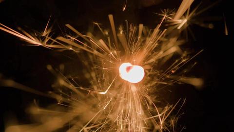 Magic Glowing Flow of Sparks in the Dark Filmmaterial