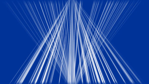 Two bundles of white light rays on a dark blue background, focus light above and Animation
