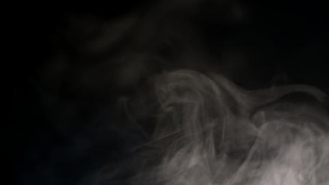 Abstract White Water Vapor on a Black Background Archivo