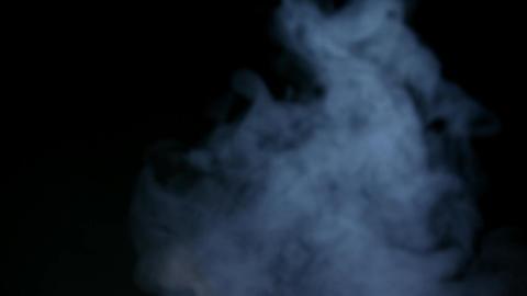 White Smoke Isolated on Black Background Footage