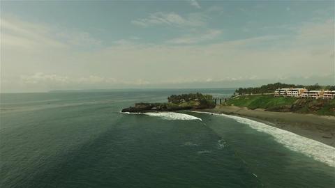 Aerial View: Tropical Pacific Ocean Coast in Ecuador Footage