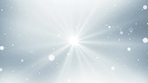 Abstract silver light background with glitter sparkles. Light in center Animation