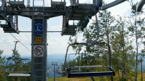 Chair lifts and equipment Footage