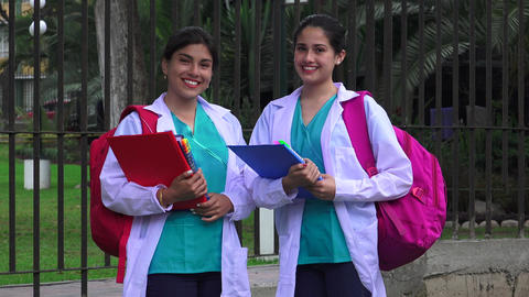 Young Female Medical Students Live Action