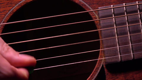 Playing the guitar. Live music performance. 4K macro video Footage