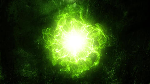 Green Energy Core Intro Logo Background Motion Backdrop Animation