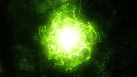 Green Energy Core Intro Logo Background Motion Backdrop Animation