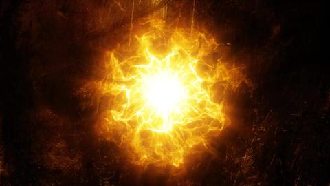 Gold Orange Energy Core Intro Logo Background Motion Backdrop Animation