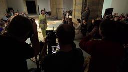 Many photographers work on fashion show Footage