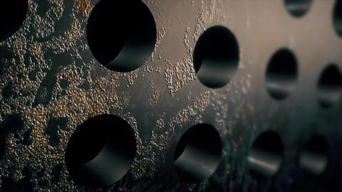 steel metal circle textures. Corrosion backdrop Fotografía