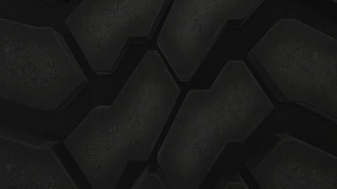 Close up on a car tire in motion Photo