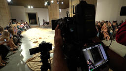 TV. Press zone on fashion show Footage