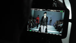 Camera cameraman shoots fashion show Footage
