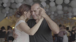 Sensual dance tango (milonga). Dancers dance on the dance floor. Slow motion Footage