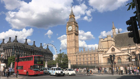 Westminster Big Ben and Parliament Footage