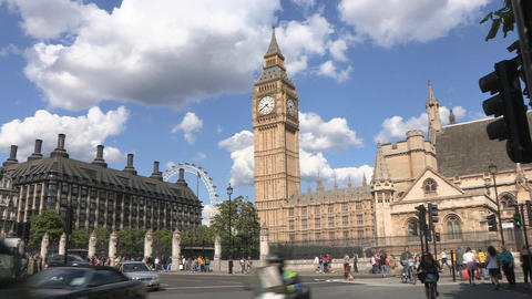 Westminster Big Ben and Parliament Stock Video Footage