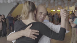 Lifestyle: Dance-Tango (milonga). Dancers on the dance floor. Slow motion Footage