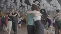 Romance. A man and a woman dance tango (monga). Slow motion Footage