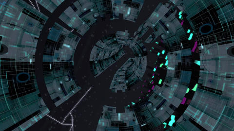 Scifi City Vj Loop Animation