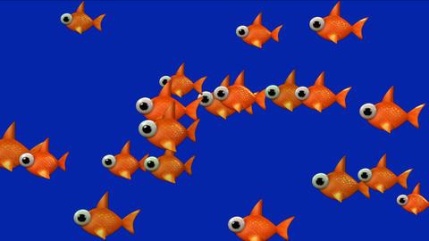 4k Cartoon goldfish toys,ocean aquatic fish,biological underwater background Live Action