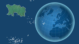 Jersey and Globe. Relief Animation