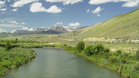Scenery of Wyoming with the Wind River Footage