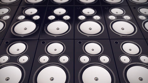 Audio Speakers background Animation