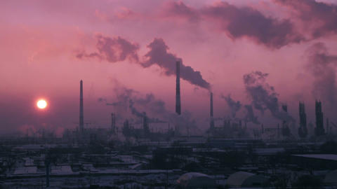 C0180_Oil Refinery Air Polution_timelapse_4K_2 Footage