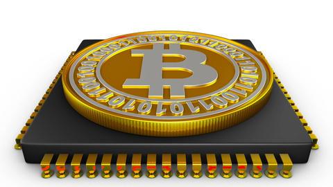 Processor and bitcoin Animation