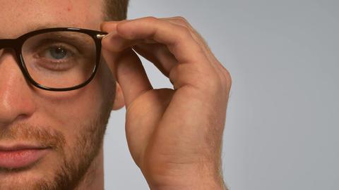 portrait smart men with spectacles Live Action