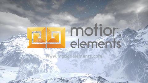 Snow logo Plantilla de After Effects