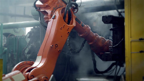 Automated Arm in Industry Stock Video Footage