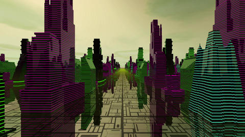 Scifi Buildings Loop Dj Animation