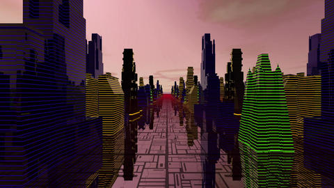 Scifi Buildings Loop Dj Animación