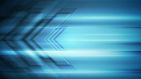 Blue tech arrows abstract video animation Animation