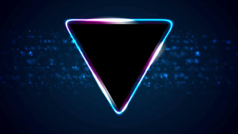 Retro neon 80s shiny triangle motion background Animation