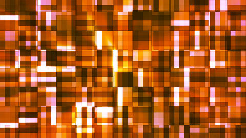Broadcast Twinkling Squared Hi-Tech Blocks, Orange, Abstract, Loopable, 4K Animation