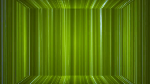 Broadcast Vertical Hi-Tech Lines Stage, Green, Abstract, Loopable, 4K Animation