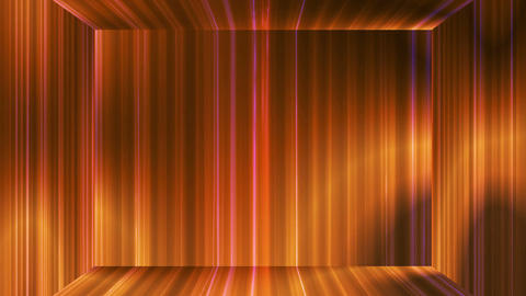 Broadcast Vertical Hi-Tech Lines Stage, Golden, Abstract, Loopable, 4K CG動画素材