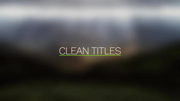 Clean and Elegant Titles After Effectsテンプレート