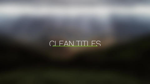 Clean and Elegant Titles - After Effects text animation template After Effects Template