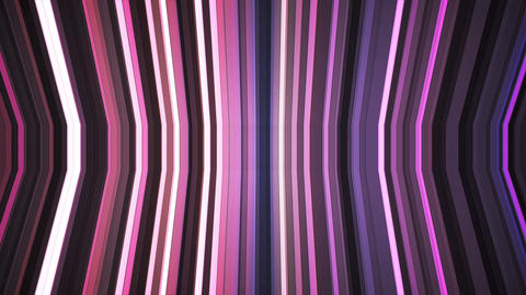 Broadcast Twinkling Vertical Bent Hi-Tech Strips, Purple, Abstract, Loopable, 4K Animation