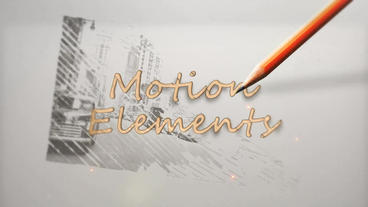 Pencil Drawing Logo Old Plantilla de After Effects