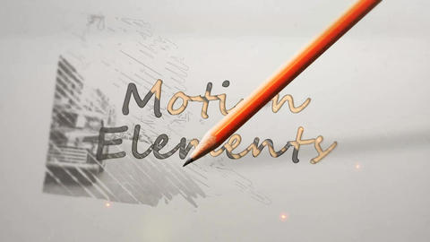 Pencil Drawing Logo Old After Effects Template