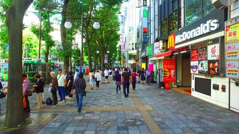 Station road of Ikebukuro in Tokyo Japan ビデオ