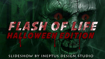 Flash of Life: halloween edition slideshow Apple Motionテンプレート