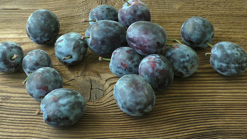 Fresh organic plums. Autumn harvest Footage