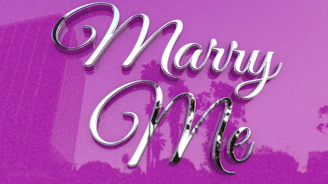 Beautiful Marry Me Title Footage